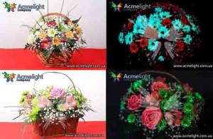 готовые светящиеся цветы