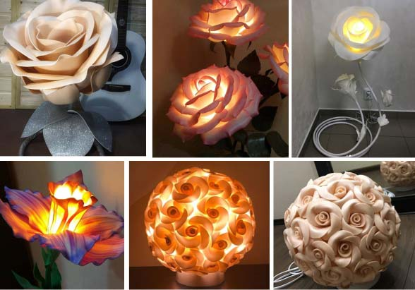 Ростовые цветы светильники